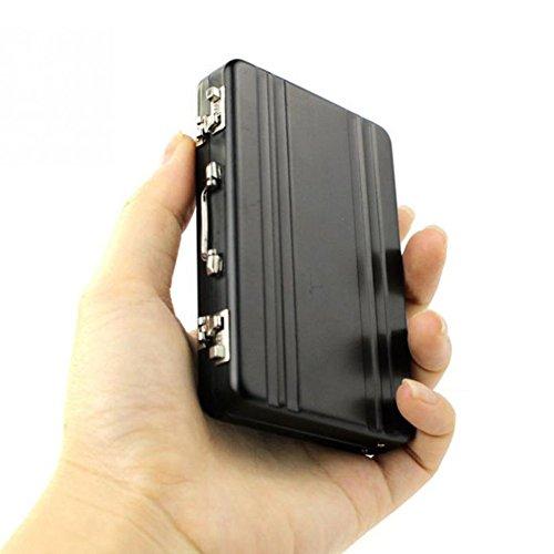 Koedu New Metal Mini-Aktenkoffer Koffer Business Bank-Karte Namenskartenhalter -Kasten-Kasten