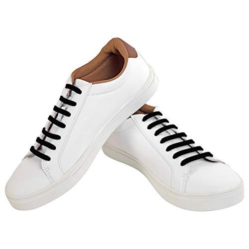 Pro-fiber lacci che non serve allacciare | silicone elastico impermeabile | stringhe multiuso per ogni tipo di scarpa, sport e attività all'aperto | tanti (nero)