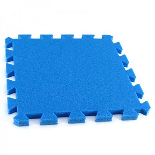 Preisvergleich Produktbild Bodenmatte Puzzlematte Einzelteile UNO - 16 mm - 0+ blau