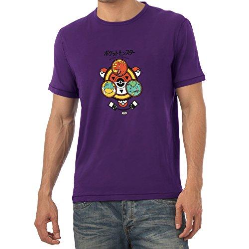 TEXLAB - Poke Trainer - Herren T-Shirt Violett