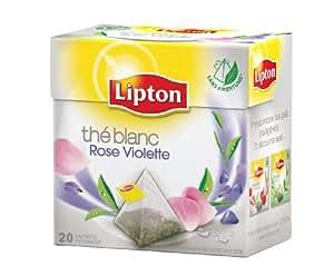 Lipton Thé blanc Rose et Violette  20 sachets - Lot de 3