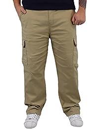 sportliche Herren Thermo Cargohose mit Gummibund und seitlich aufgesetzten Klettverschluss Taschen Gr.: M-XXXL