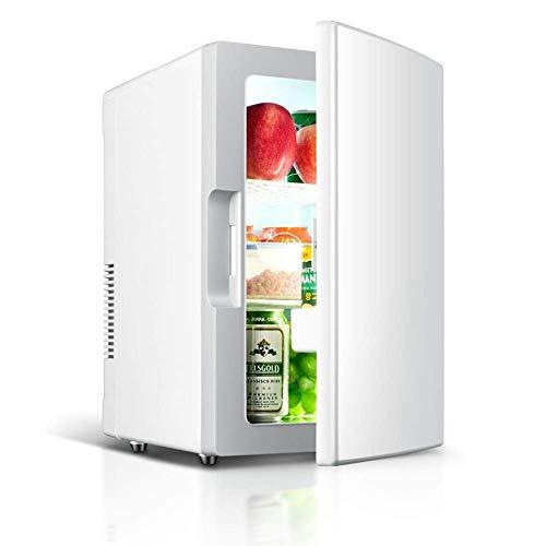 LMDC Mini Kühlschrank 18L Tragbarer Thermoelektrischer Kühler Und Wärmer Mini Kühlschrank for Schlafzimmer, Büro Oder Wohnheim (Weiß) (41 * 34 * 26 cm) -