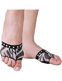 misu - Zapatillas de danza de poliuretano para mujer multicolor negro/rojo, color multicolor, talla 41