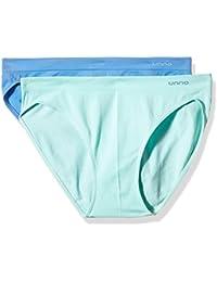 Unno AUUM301, Braga Baja Sin Costuras Para Mujer, Pack de 2