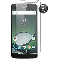 E-Hamii [2-Pack Moto Z Play Protecteur d'écran, 0.26mm HD Protection Anti-Rayures et Anti-Empreintes digitales, 9H Verre trempé Protector (Note: Pas Couverture Complète)