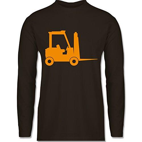 Andere Fahrzeuge - Gabelstapler - Longsleeve / langärmeliges T-Shirt für Herren Braun