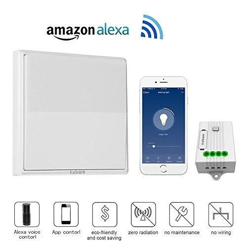 Wifi Lichtschalter Funkschalter Set Lichtschalter Dimmbar mit Alexa Steuerbar Smart Home (Smart Dimmer)