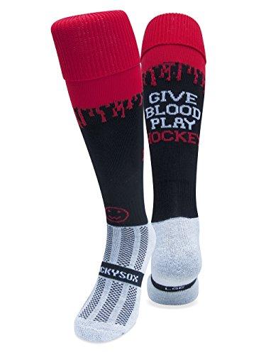 WackySox geben Blut spielen Eishockey Socken