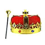 NUOBESTY re Medievale Corona e Imitazione scettro Reale per Decorazioni per Feste per Ragazzi re Festa 2pz