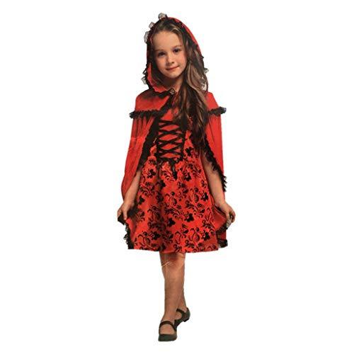 Mädchen Kleine Kostüm Für Zombie - HS-ZM-06 Mädchen Halloween Kostüm Kleines Mädchen Spitzenkleid Mystery Robe Cosplay Kostüm Für Kurzarm Beleuchtete Zombie Maskerade Zeigen Zombie Party Pyjamas,M