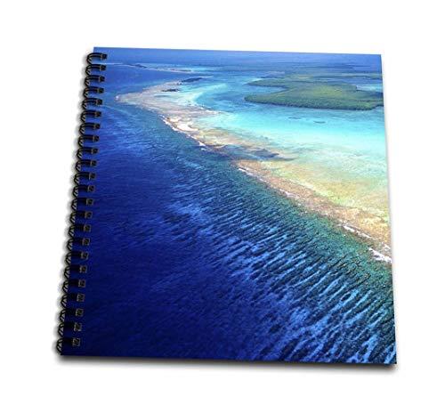 3dRose - Libro de Dibujo con Vista aérea de Barrier Reef, Belize-SA02 GJO0140-Greg Johnston de 20,32 x 20,32 cm (db_85537_1), 8 x 8