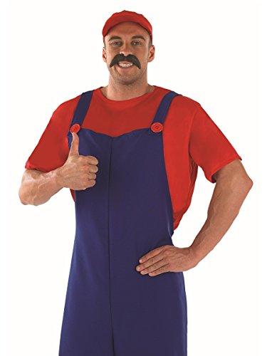 Imagen de plumbers  disfraz de súper mario bros para hombre, talla 48  50 fs2279 m  alternativa