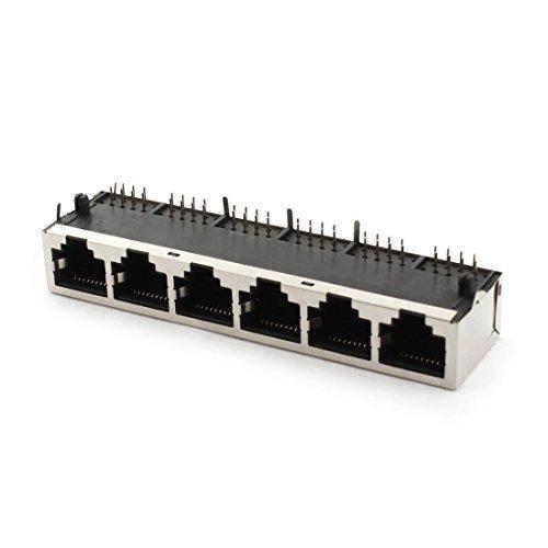 Preisvergleich Produktbild 1 x RJ45 8P8C PCB-WAGENHEBER MONTAGE, LAN, Netzwerk, Kabel Stecker