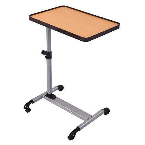 Laptoptisch PC Tisch Notebooktisch Computertisch Schreibtisch Arbeitstisch Berstelltisch Büromöbel höhenverstellbar schwenkbar mit Rollen