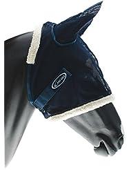 Masque antimosche lamicel avec para oreilles et réseau souple. Ombrie d'équitation, cheval, chevaux