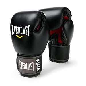 Everlast Pro Style Muay Thai Gloves, 12-Ounce (Black)