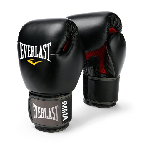 Everlast Pro Style Muay Thai Gloves, 12-Ounce (Black)