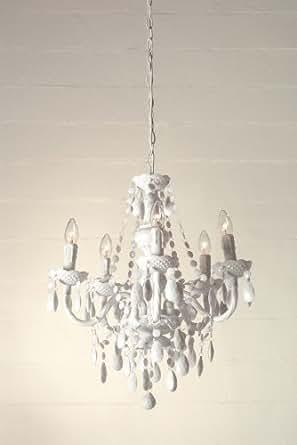 Lampadario a gocce barocco in plexiglass bianco for Amazon lampadari