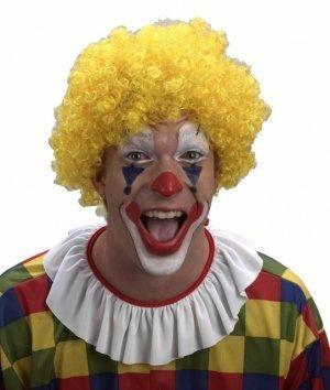 ockt, Gelb (Lockige Clown Perücke Gelb)