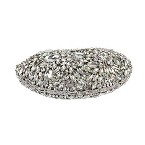 Lady Kupplung Abendessen Tasche Diamant Griff Tasche Multi