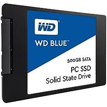 """WD Blue SSD - Disco duro sólido de 500 GB (SATA III a 6 Gb/s, carcasas de 2,5"""" / 7 mm, lectura secuencial de hasta 545 MB/s)"""