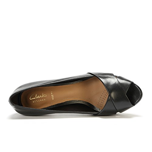 Clarks 261159565, Scarpe col tacco donna Nero