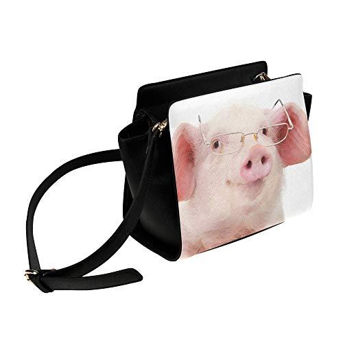 Cartoon Rosa Schwein Tragen Brille Umhängetasche Umhängetaschen Reisetaschen Seesack Umhängetaschen Gepäck Organizer Für Dame Mädchen Frauen Arbeit Einkaufen Im Freien