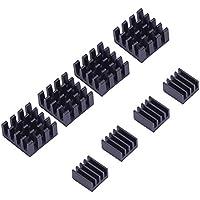 Disipador de Calor Aluminio Kit de Refrigeración para Raspberry Pi 3, Pi 2, Pi Modelo B+, 8 Piezas, Negro