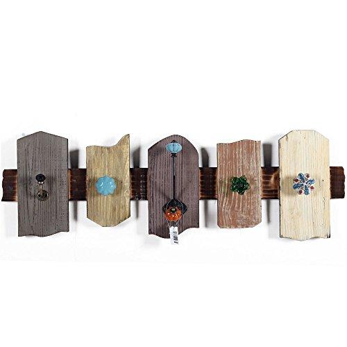 Wanddekoration Mittelmeer Retro Holz Dekorative Haken Bekleidungsgeschäft Hölzerne Kleiderbügel Tür Schlüssel Haken (Dekorative Kleiderbügel Tür)