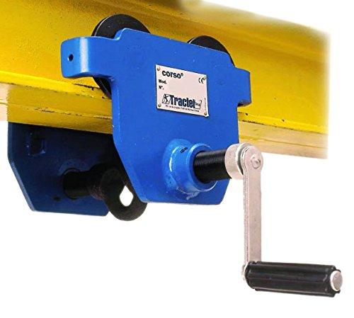 tractel amz1023015corso Push Girder da viaggio/trolley, 250kg, larghezza fascio: 45MM-152mm