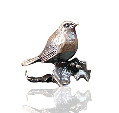 Bronze-Rotkehlchen–Bronze-Miniatur-Figur–Butler & Peach -