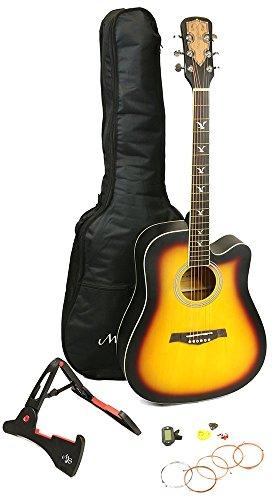 Martin Smith W-700-SB-PK Kit da Chitarra Acustica, Sunburst