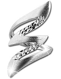 Ring geflochten geschwärzt 925 Silber Damen Schmuck SilberDream SDR450SX