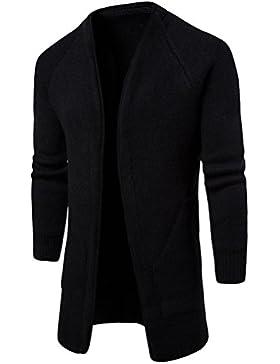 Zhuhaitf Mens juventud Outdoor Front Opened Long Sweatshirt Knitwear Coat Jacket Outerwear Ropa de calle Cardigan...