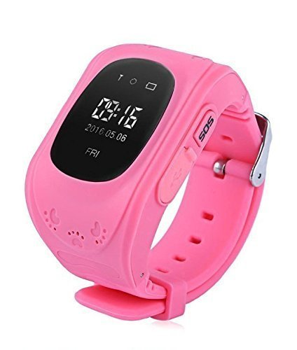 Mobivax Q50 Kid's Smartwatch with GPS Tracker and SIM Support System , Calling Function and for Android/iOS Smartphones (Pink)
