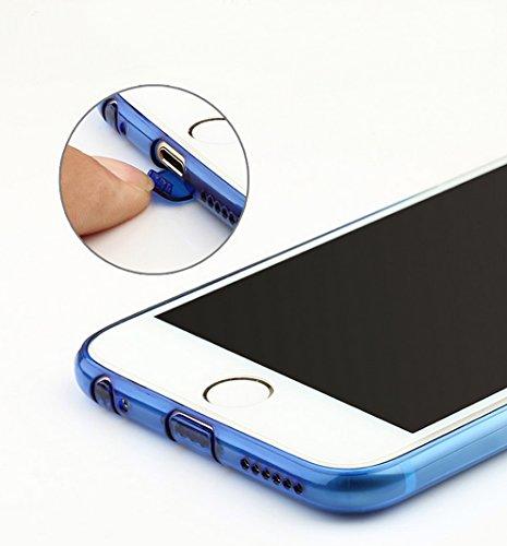 MicBridal® coque TPU pour Apple iPhone 6 iphone 6s coque transparente Silicone ultra fine case étui Housse Protecteur cover 4,7 pouces Pourpre jaune