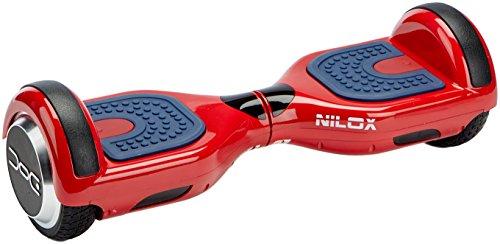 Nilox Plus UL 2272 Doc Hoverboard Bluetooth, Geschwindigheit 10 Km/h, Rot, 25.7 x 28 x 65.5 cm