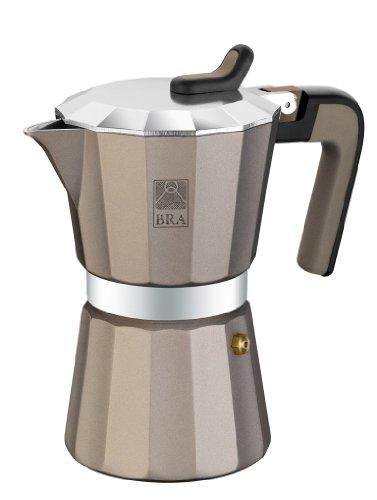 BRA Titanium Kaffeemaschine Aluminium, 9 Tassen