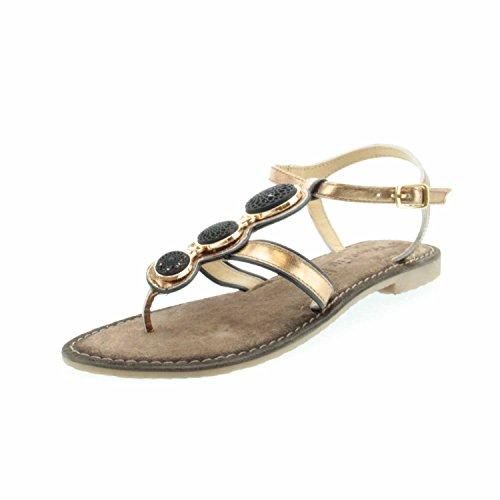 Tamaris Damen Infradito Sandalo 1-28115-971 vecchio oro metallizzato kombi