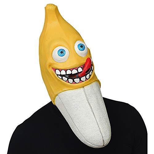 WIDMANN 03319 Ganzkopf Maske Riesenbanane Unisex- Erwachsene - Banane Unisex Für Erwachsene Kostüm