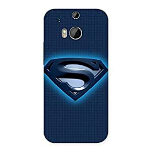 Enticing uper Blue Back Case Cover for HTC One M8