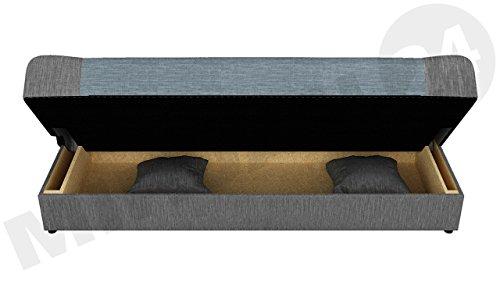 Schlafsofa Jonas, Sofa mit Bettkasten und Schlaffunktion, Bettsofa, Dauerschläfer-sofa, Schlafcouch, Materialmix, Couch vom Hersteller, Wohnlandschaft (Lawa 06) - 4