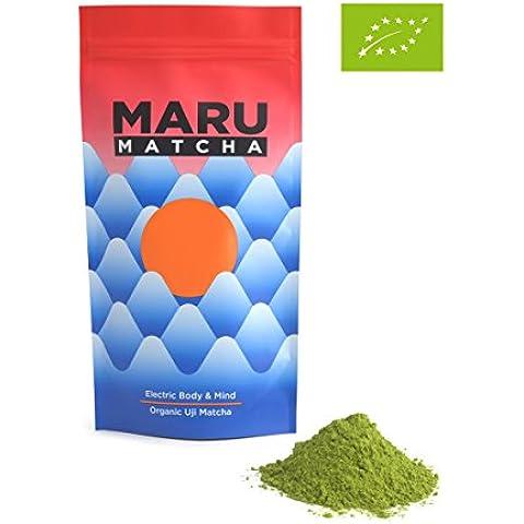 Japonesa orgánica Uji té Matcha - 100g Matcha en polvo en bolsa con cierre. Perfecto para té verde Lattes, Batidos, Hornear