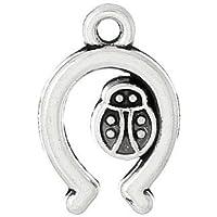 12 x Argento Antico Tibetano 17mm Ciondoli Pendente (Ferro Di Cavallo Fortunato) - (ZX12670) - Charming Beads