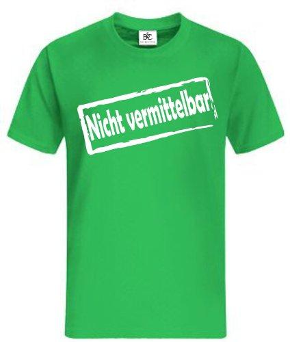 Nicht vermittelb?ar T-Shirt Fan Shirt Fun Shirt Kult Grün