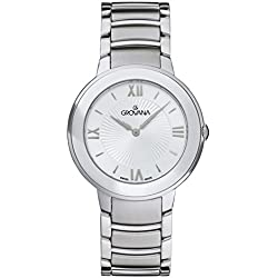 Grovana Women's Quartz Watch with Silver Dial Analogue Display and Silver Stainless Steel Bracelet 2099.1132