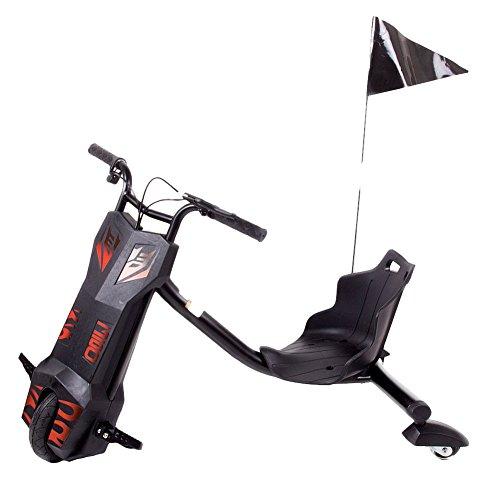 Preisvergleich Produktbild FunTomia® Drift Trike mit Bleigel Akku 12V 4,5AH und LED Licht Elektro Dreirad 360 Grad Drehungen