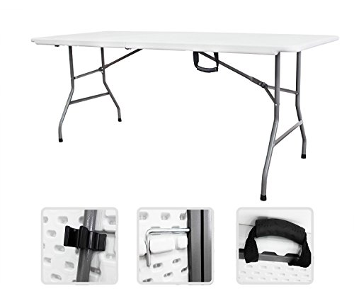 Tavolo pieghevole in dura con maniglia 183cm x 75cm x 74 cm - per Campeggio buffet fiera sagra casa Giardino, Reception, Ristorazione, Incontro di Lavoro
