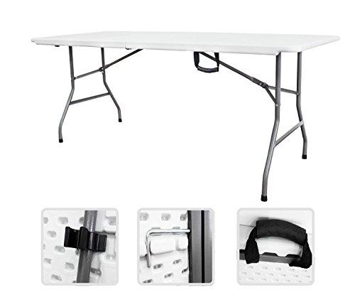 Mesa de buffet de camping con la manija plegable, 183 cm